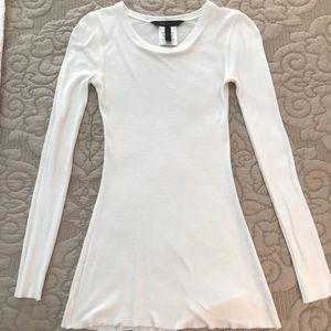 BCBGMaxAzria White Long Sleeve T Shirt